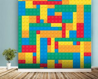Lego Blocks Effect wall mural