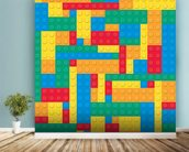 Lego Blocks Effect wall mural in-room view