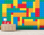 Lego Blocks Effect wall mural living room preview
