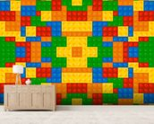 Lego Pattern Effect wallpaper mural living room preview