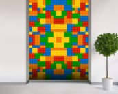 Lego Pattern Effect wallpaper mural in-room view
