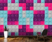 Lego Purples Effect mural wallpaper kitchen preview