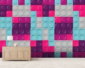 Lego Purples Effect mural wallpaper living room preview
