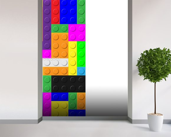 Lego Tetris Effect wall mural room setting