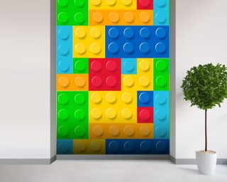 Lego Effect mural wallpaper