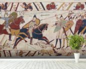 Bayeux tapestry - Norman invasion of England mural wallpaper in-room view
