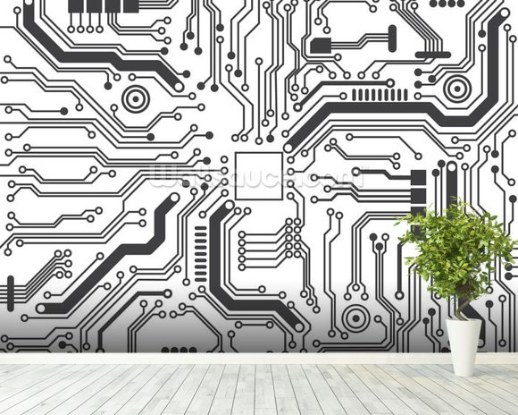 Circuit Board Background Texture Wallpaper Wall Mural | Wallsauce ...