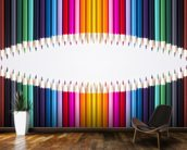 Bright Coloured Pencils wallpaper mural kitchen preview