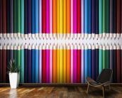 Line of Coloured Pencils mural wallpaper kitchen preview
