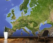 Relief Map of Europe wallpaper mural kitchen preview