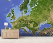 Relief Map of Europe wallpaper mural living room preview