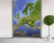 Relief Map of Europe wallpaper mural in-room view