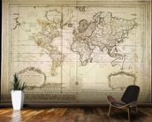 Historic World Map wall mural kitchen preview