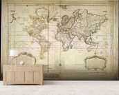 Historic World Map wall mural living room preview