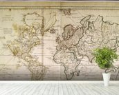 Historic World Map wall mural in-room view