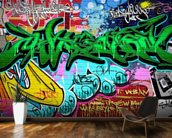 Graffiti Art Vector Background. Urban wall wallpaper mural kitchen preview