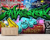 Graffiti Art Vector Background. Urban wall wallpaper mural living room preview