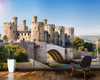 Conwy Castle, Wales wallpaper mural