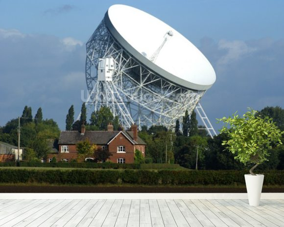 Jodrell Bank Radio Telescope wallpaper mural room setting