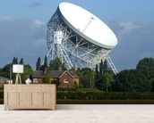 Jodrell Bank Radio Telescope wallpaper mural living room preview