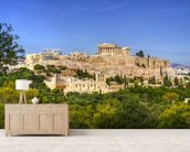 The Acropolis, Athens wallpaper mural living room preview