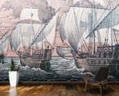 Christopher Columbus - Niña, Pinta & Santa Maria wall mural kitchen preview