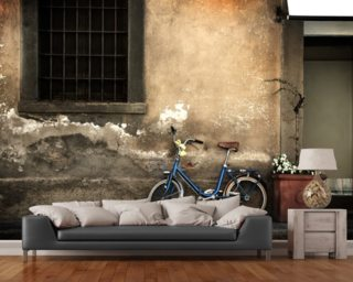 Old Italian Style Bicycle mural wallpaper