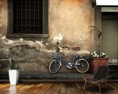 Old Italian Style Bicycle mural wallpaper kitchen preview