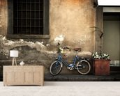 Old Italian Style Bicycle mural wallpaper living room preview
