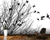 Flying birds wallpaper mural kitchen preview
