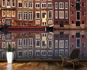 Amsterdam Houses Reflection mural wallpaper kitchen preview