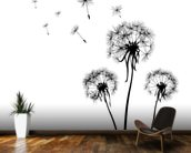 Dandelions Silhouette wallpaper mural kitchen preview