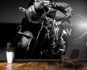 Motorcycle Black and White wall mural kitchen preview