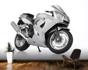 Motorbike in White wallpaper mural kitchen preview