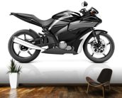 Black Motorbike mural wallpaper kitchen preview