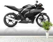 Black Motorbike mural wallpaper in-room view