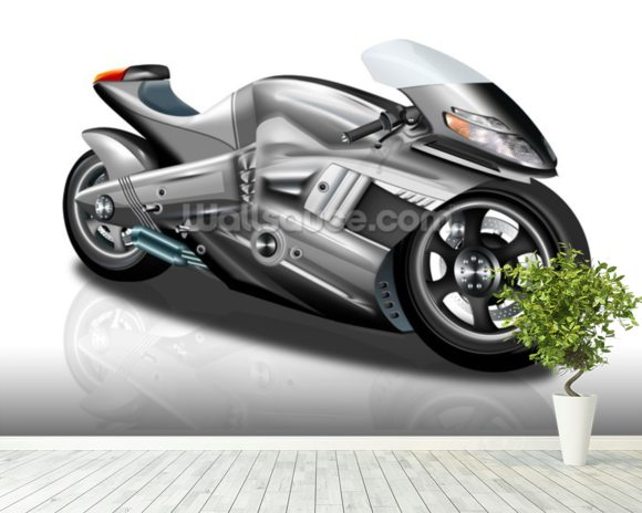 Superbike Concept mural wallpaper room setting
