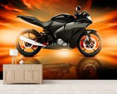 Motorcycle Skyline Horizon wall mural living room preview