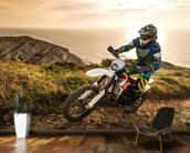 Enduro biker wallpaper wall mural wallsauce for Dirt bike wall mural