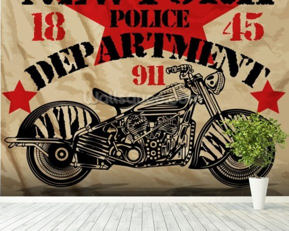 motorcycle pd wallpaper wall mural wallsauce usa