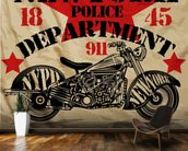 Motorcycle PD mural wallpaper kitchen preview