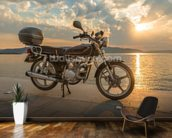 Motorbike Sunset wall mural kitchen preview