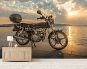 Motorbike Sunset wall mural living room preview
