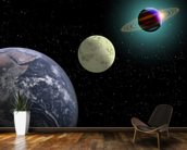 Earth Moon And Saturn With A New Sun wall mural kitchen preview