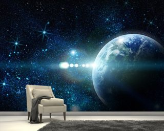 Space wallpaper wall murals wallsauce usa for Earth rising wall mural