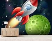 Cartoon Rocket wall mural living room preview