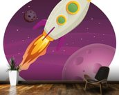 Rocket Ship mural wallpaper kitchen preview