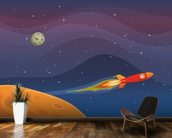 Spaceship Travel In Space wall mural kitchen preview