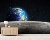 Rising Earth from the Moon wall mural living room preview