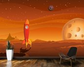 Rocket on Alien Planet wallpaper mural kitchen preview